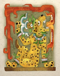 Ancient Mayan Jaguar God Art Print